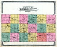 County Map - Outline, Waushara County 1924